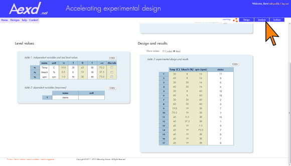 online design of experiments | software DOE | experimental design